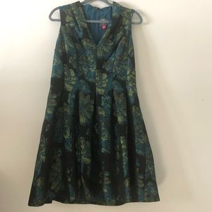 Vince Camuto Jacquard Floral Dress